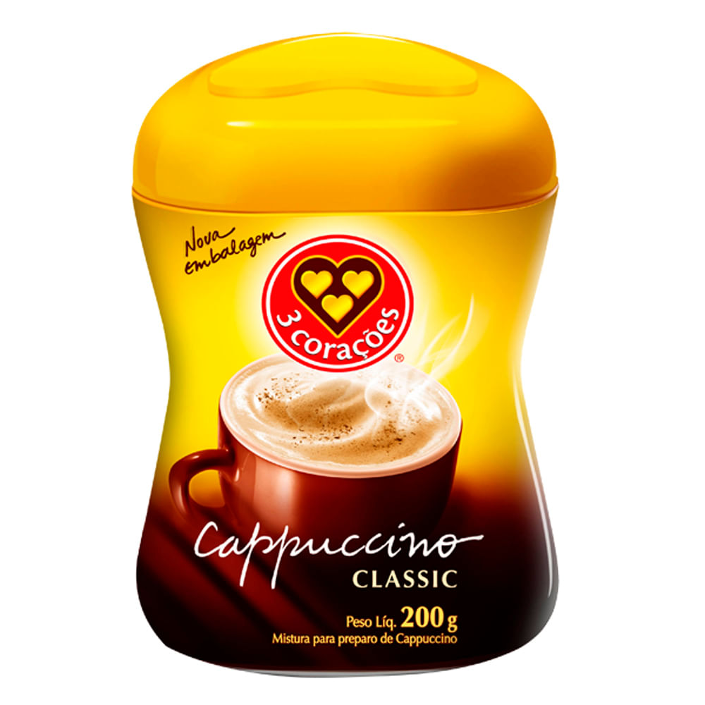 Capuccino-Classic-200g---Tres-Coracoes