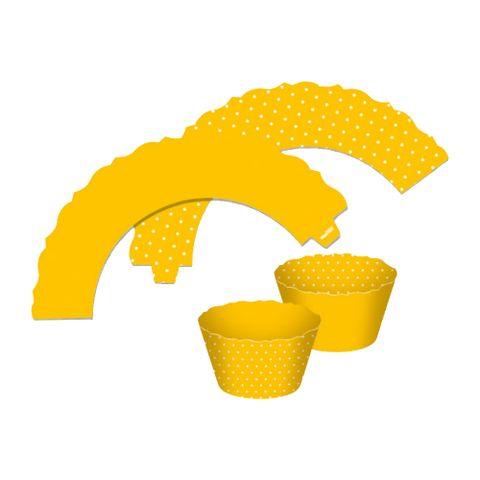 Mini-Wrappers-Cupcake-Amarelo-c-12---Ultrafest