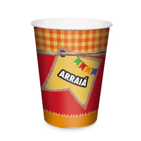 Festa-Junina-Copo-Papel-330ml-c-8---Cromus
