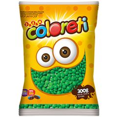 Mini-Confeito-Chocolate-Verde-Coloreti-300g---Jazam