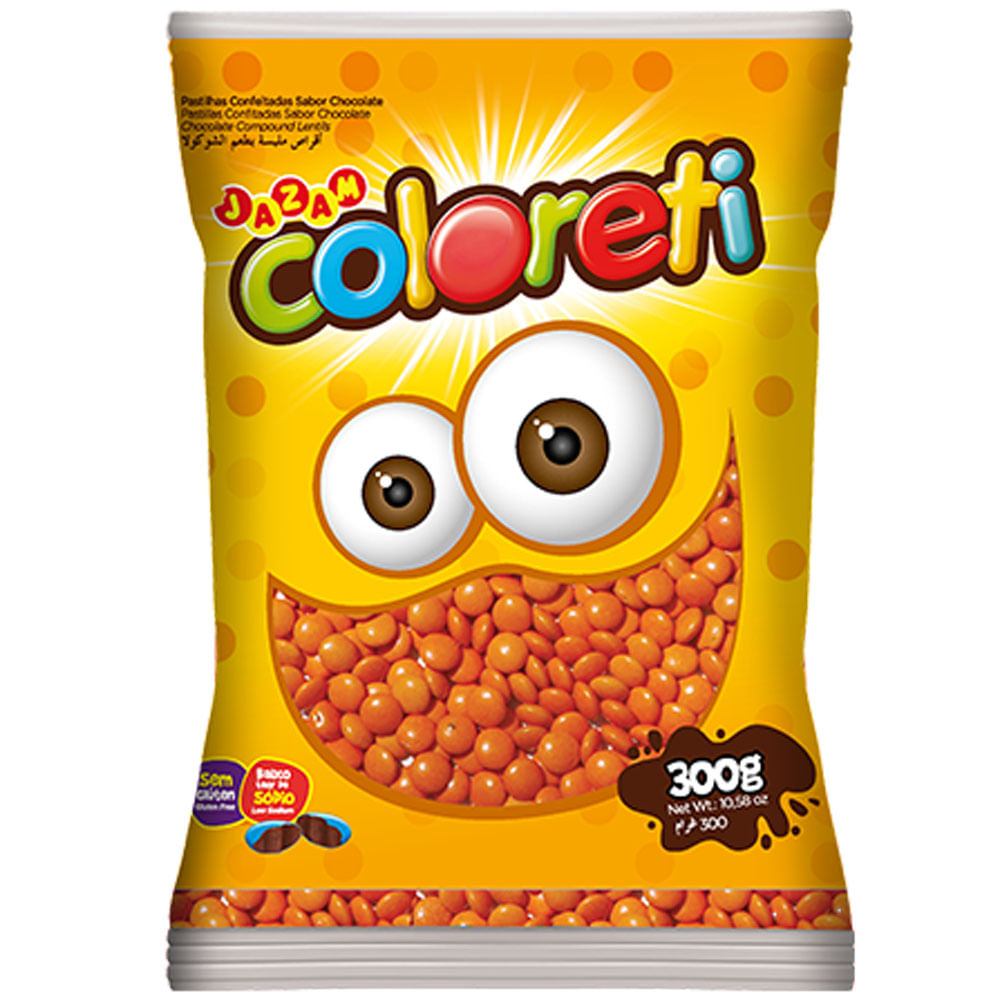 Mini-Confeito-Chocolate-Laranja-Coloreti-300g---Jazam