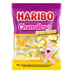 Marshmallow-Cables-Yellow-80g---Haribo