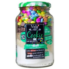 Cookie-Mix-Chocolate-com-Confeitos-Coloridos-440g---Vida-Gourmet